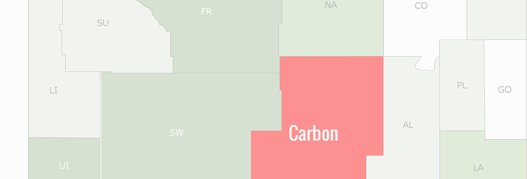 Carbon County Map