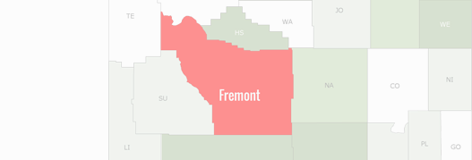 Fremont County Map