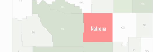 Natrona County Map