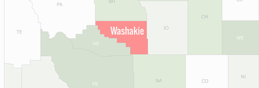Washakie County Map